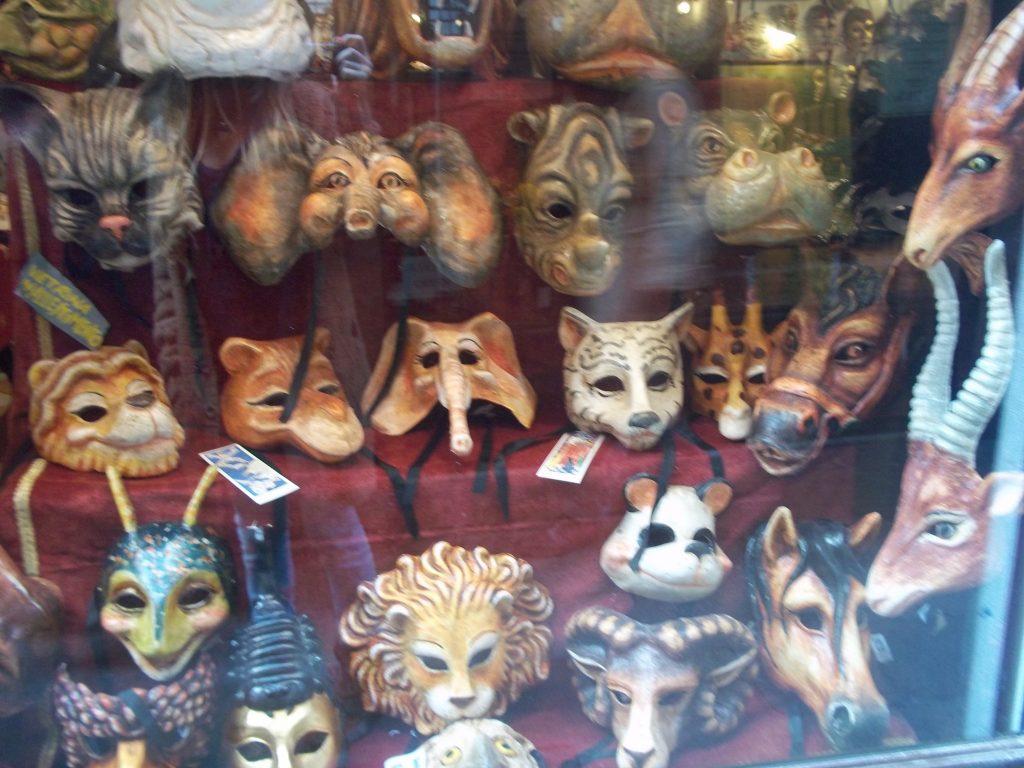 Mascaras del Carnaval en Venecia