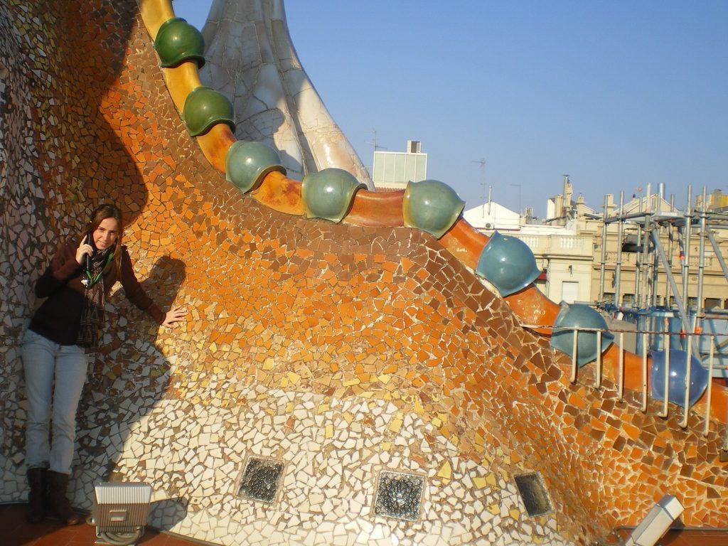Terraza de casa Batlló en Barcelona