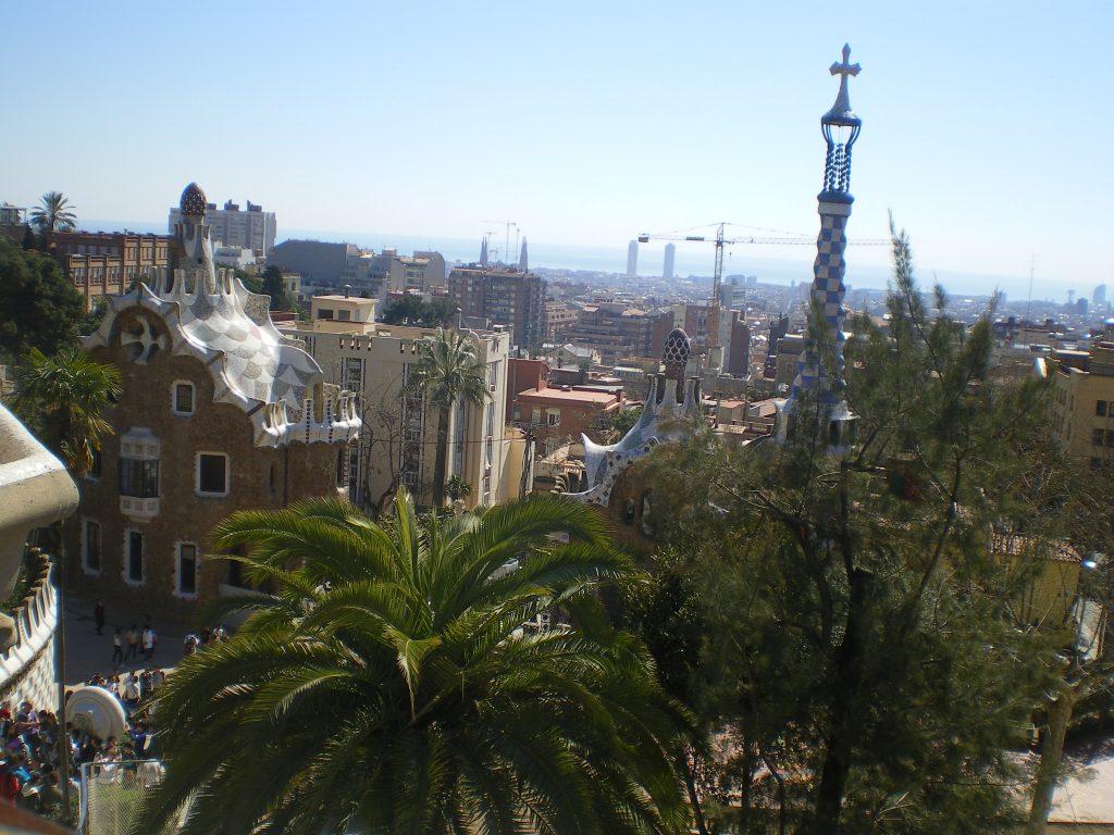 Vistas de Barcelona desde el Parque Guell
