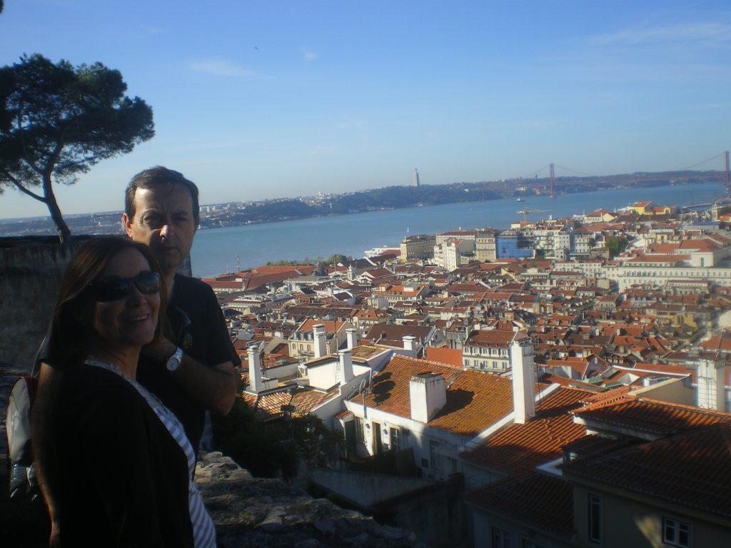 Vistas de Lisboa desde un mirador