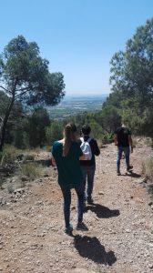 Camino del Puntal dels Llops en Olocau
