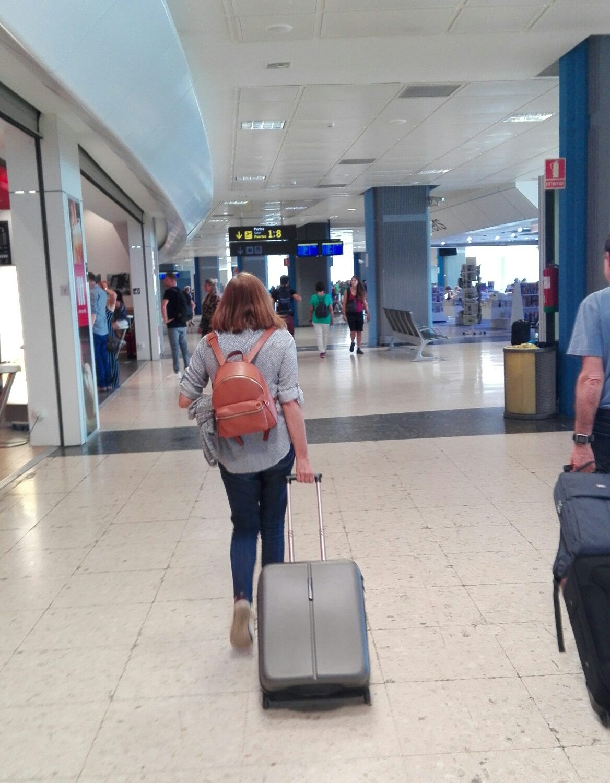En el aeropuerto de valencia