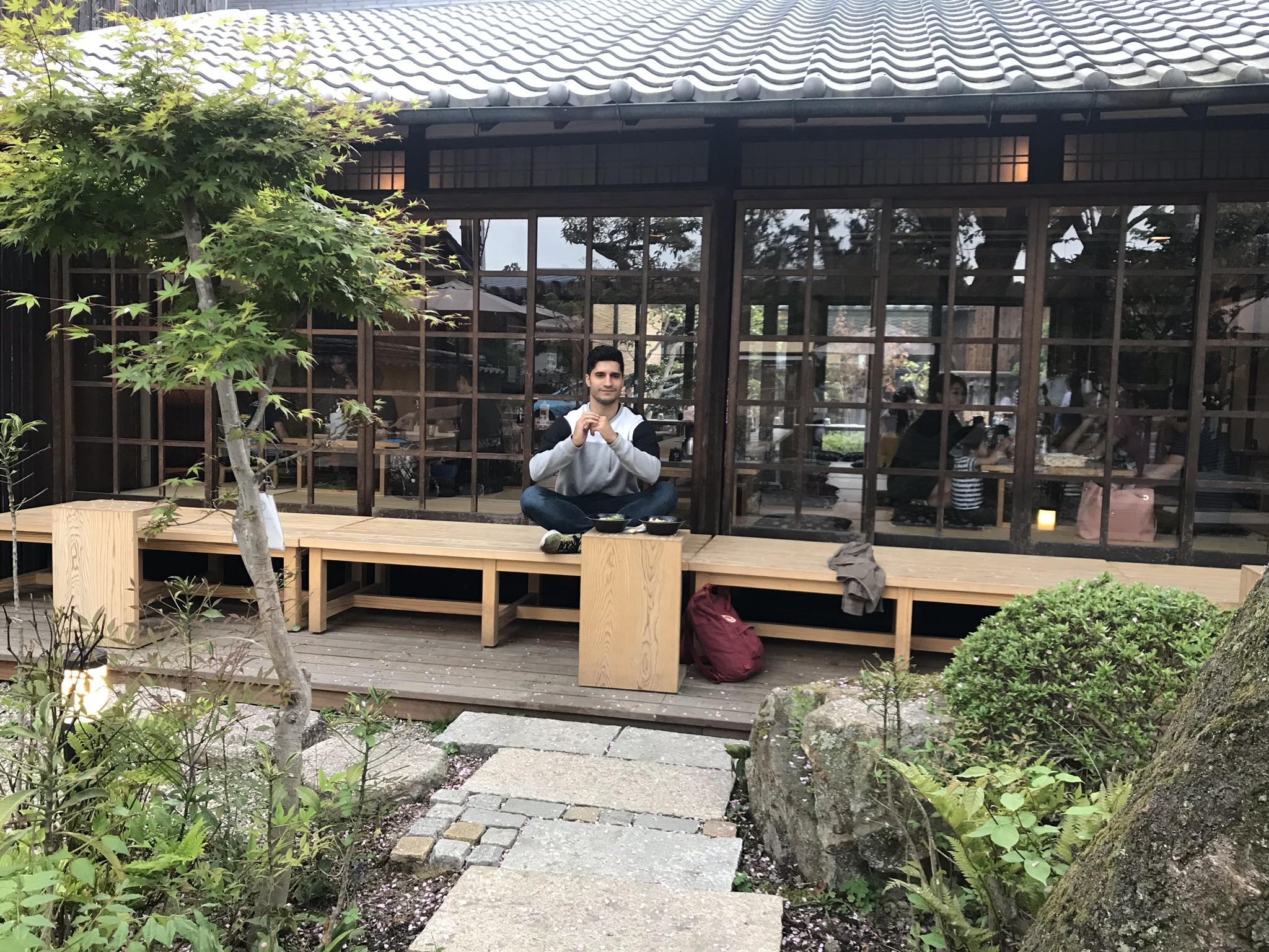 Comiendo en Nara (Japon)