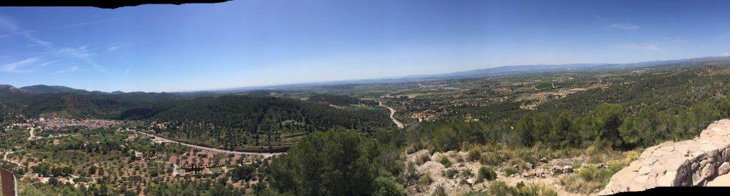 Vista panorámica desde el puntal dels Llops en Valencia