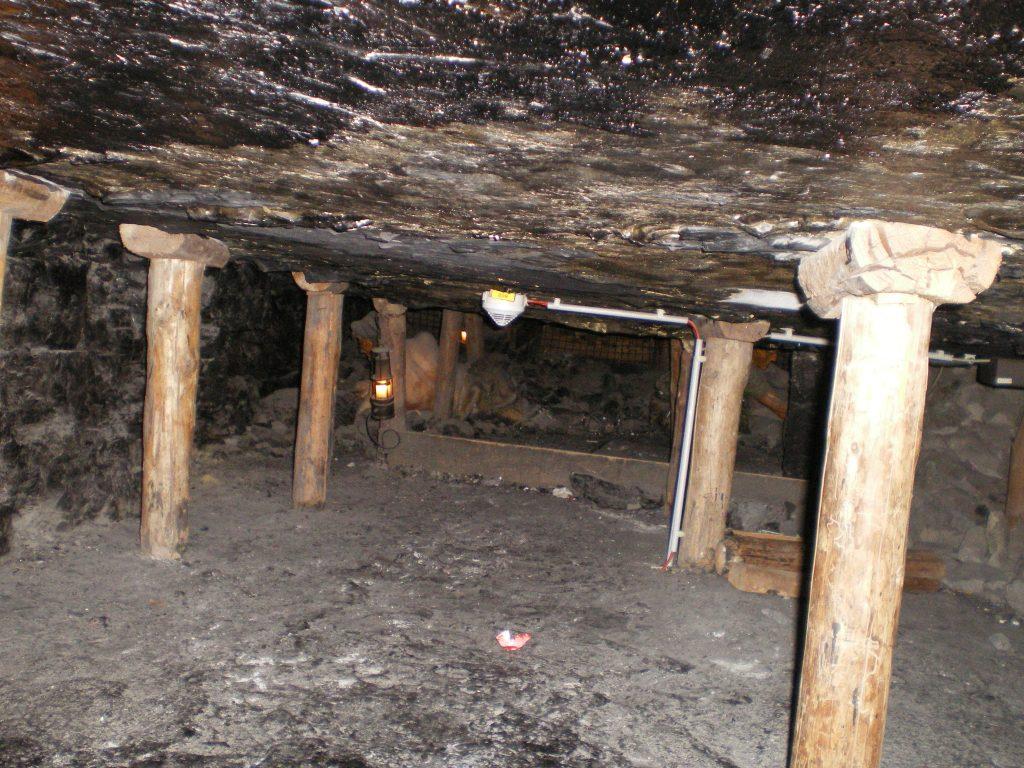 Reproduccion de una mina en el museo de la ciencia de Munich